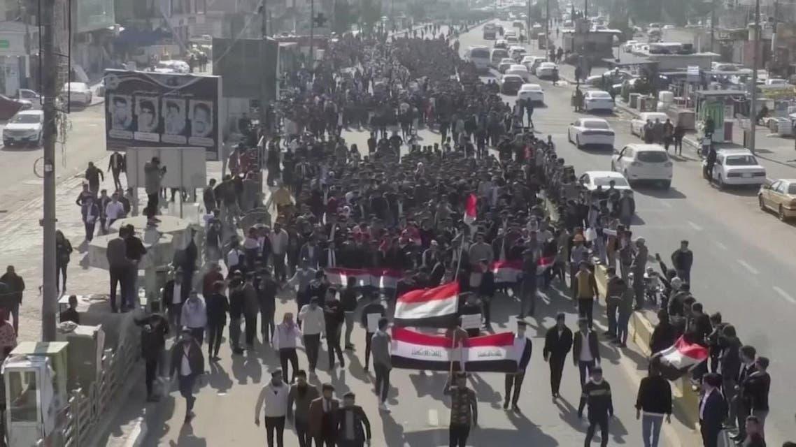 THUMBNAIL_ العراق.. تظاهرات رافضة لتكليف محمد علاوي تشكيل حكومة جديدة ويهددون بالتصعيد
