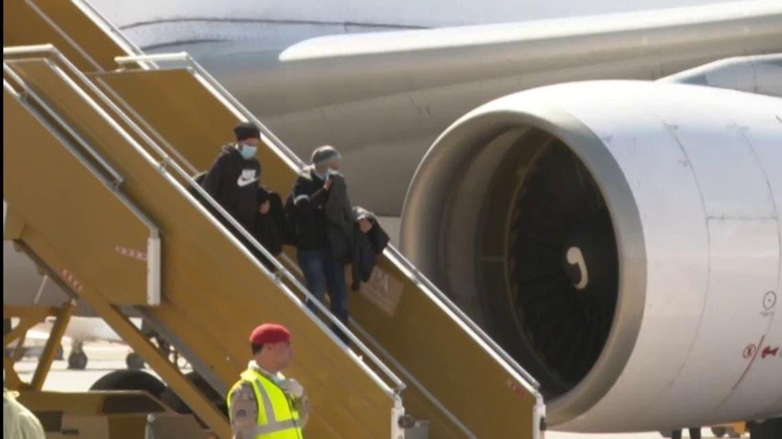Ten Saudi Arabian students evacuated from China's coronavirus epicenter Wuhan arrived in the Kingdom. (Screengrab)