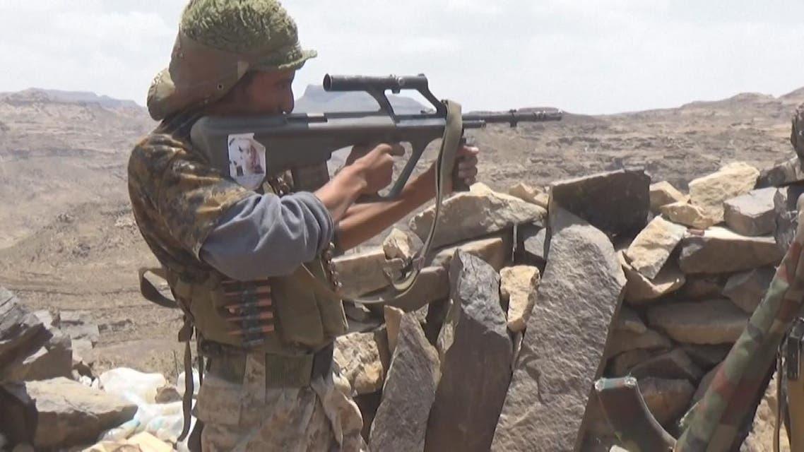"""THUMBNAIL_ الجيش اليمني  يستعيد السيطرة على """"قرن عيقب"""" في نهم"""