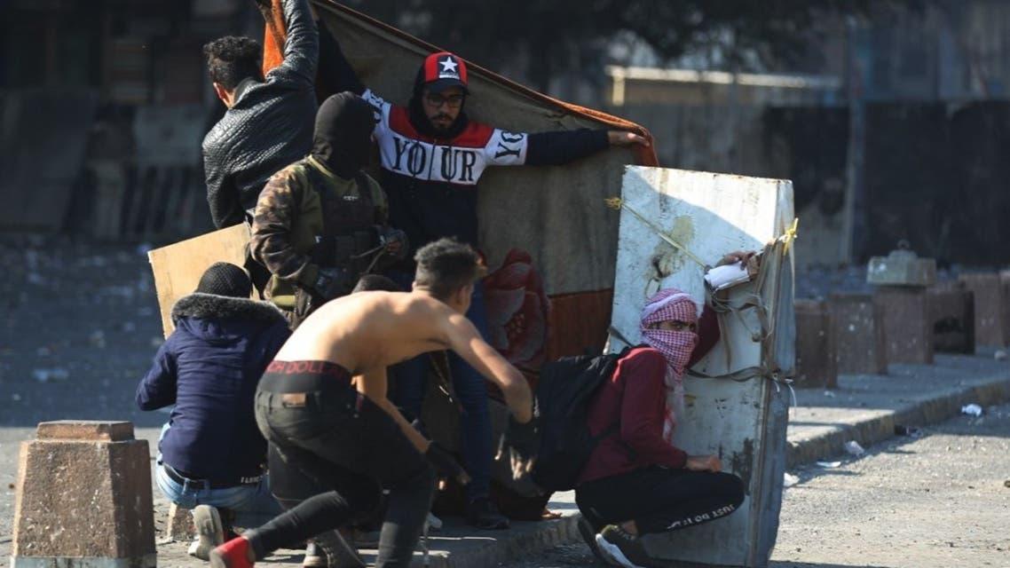 تظاهرات بغداد 31 يناير - فرانس برس
