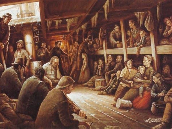 هكذا فرّ الأيرلنديون من المجاعة فماتوا بوباء حمّى السفن