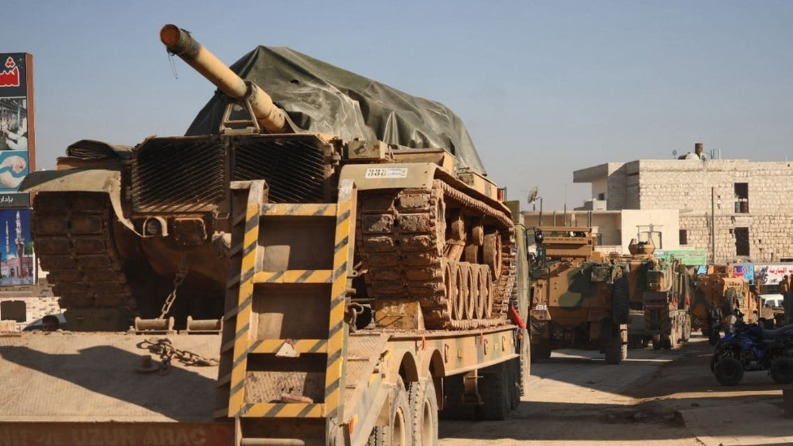 آليات عسكرية تركية تدخل الأراضي السوري 2 فبراير - فرانس برس