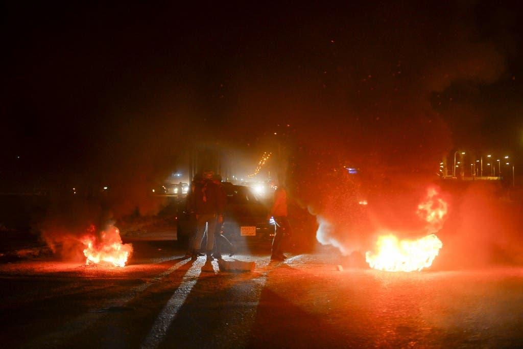 قطع طرقات في مدينة النجف - فرانس برس 1 فبراير