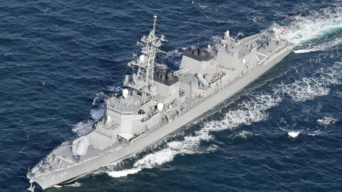 Japan's Maritime Self-Defense Force (JMSDF) destroyer Takanami sails off Yokosuka, Japan, on January 10, 2020. (Reuters)