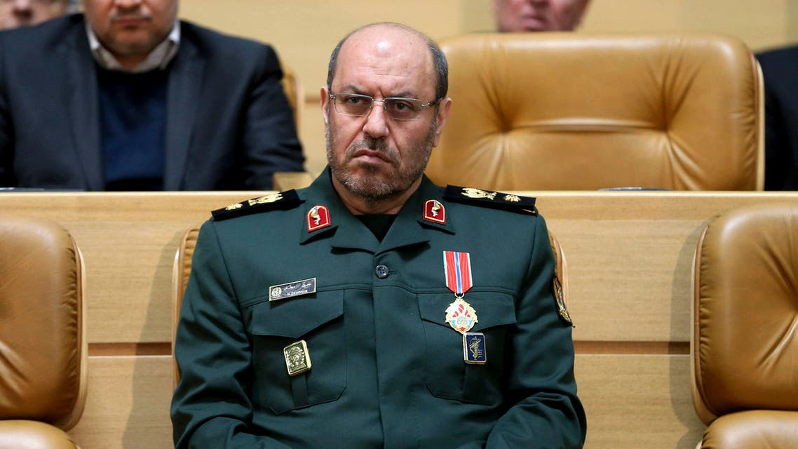 Iranian Defense Minister Hossein Dehghan during a ceremony in Tehran on Feb. 8, 2016. (AP)