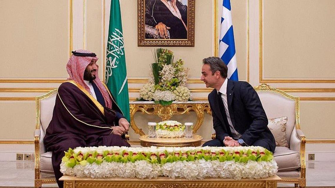 Saudi Arabia's Crown Prince holds meeting with Greek PM in Riyadh main