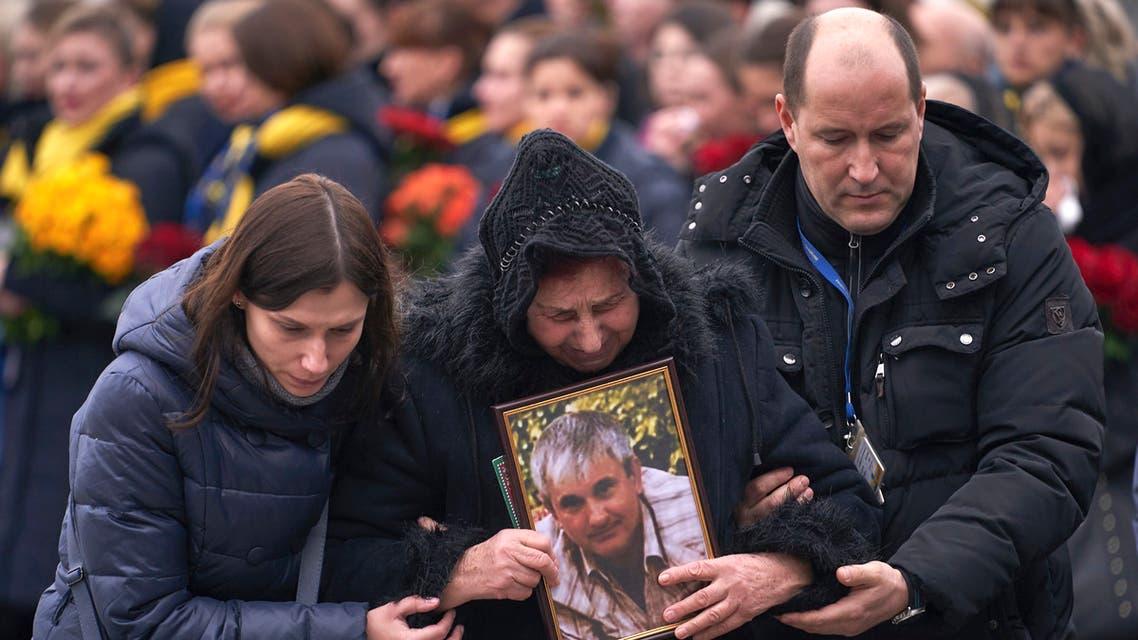 أهالي ضحايا الأوكرانية - فرانس برس