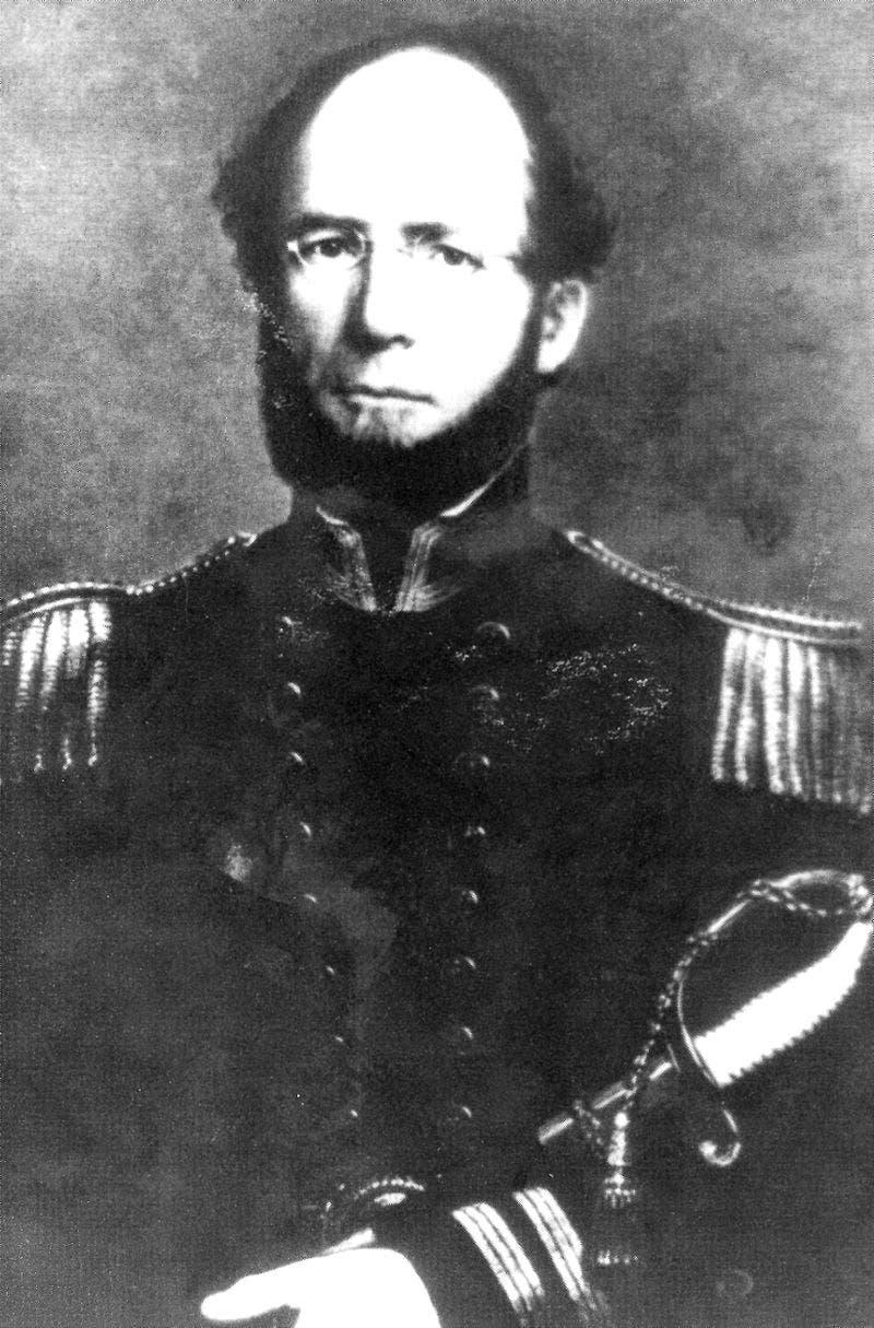 صورة لوليام لويس هرندون قائد سفينة أس أس سنترال أميركا