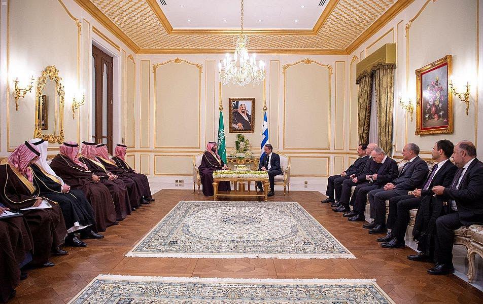 Saudi Arabia's Crown Prince holds meeting with Greek PM in Riyadh 3