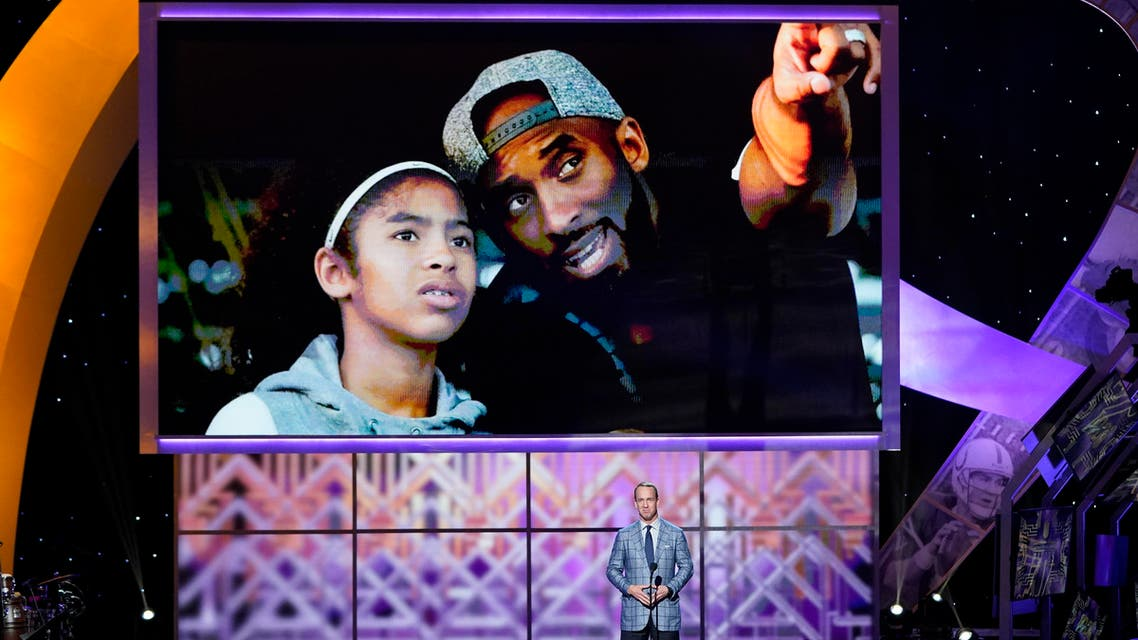 A tribute to Kobe Bryant and his daughter Gianna at the NFL Honors football award show on Feb. 1, 2020. (Photo: AP)