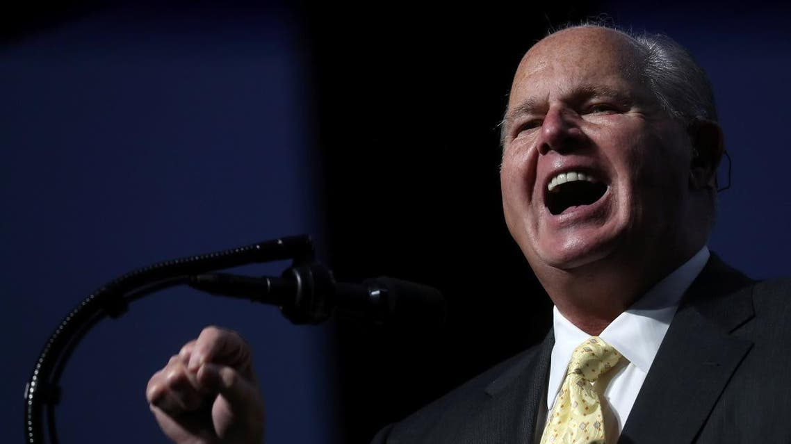 Rush Limbaugh gives an introductory speech before U.S. President Donald Trump's remarks at the Turning Point USA Student Action Summit. (Reuters)