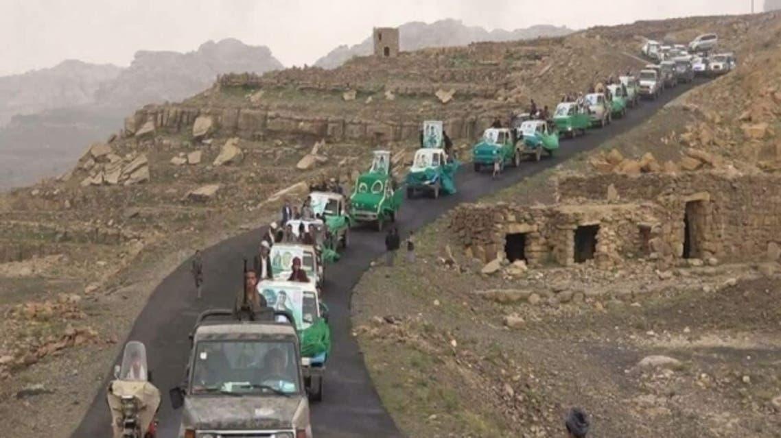 من مواكب تشييع قتلى الحوثيين