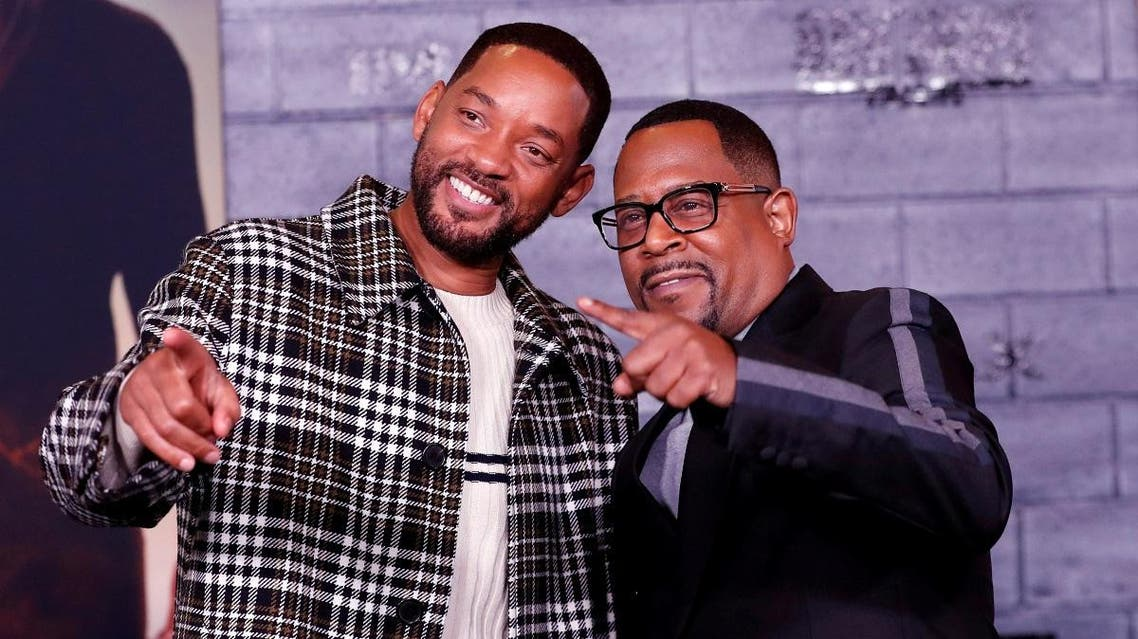 """Cast members Smith and Lawrence pose at the premiere of """"Bad Boys for Life"""" in Los Angeles. (Reuters)"""