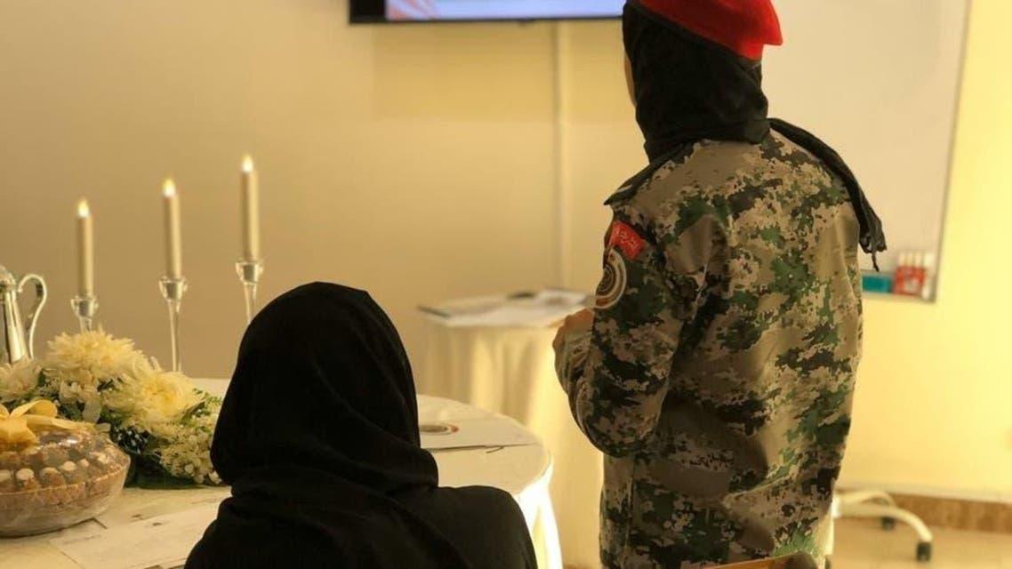 Saudi women in army