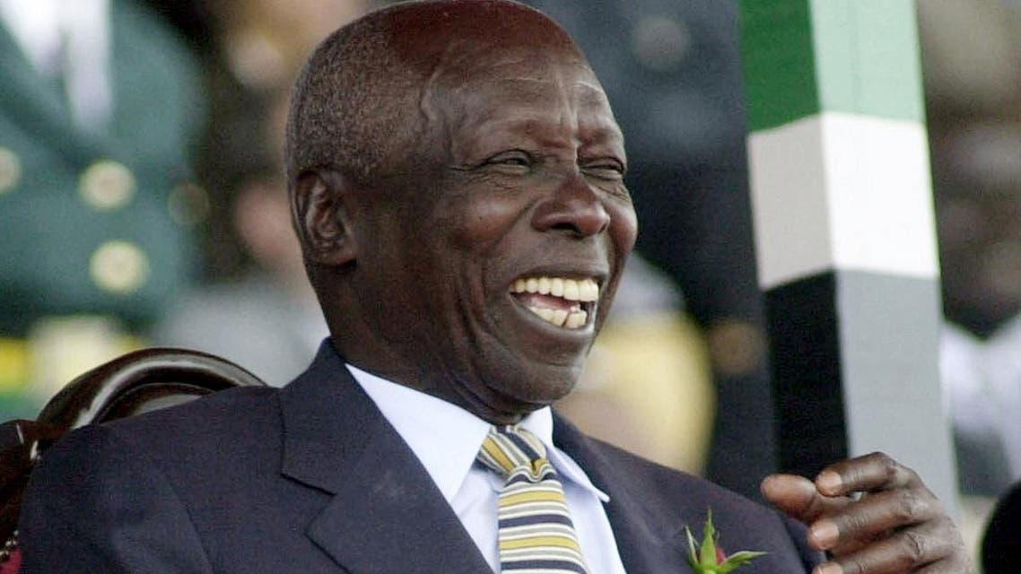 Former President of Kenya Daniel arap Moi in this October 2002 file photo. (AP)