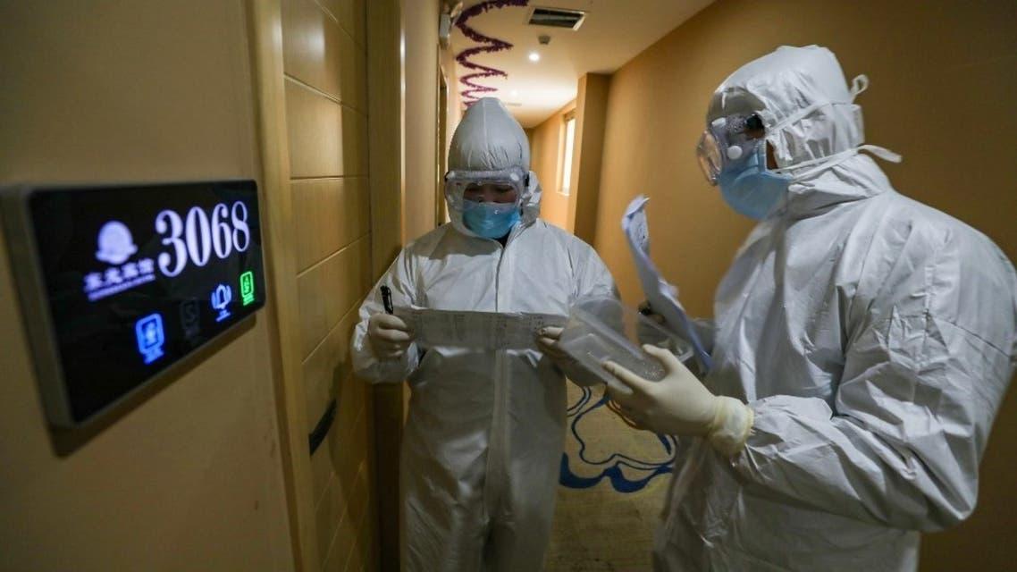 من أحد المراكز الصحية في مدينة ووهان الصينينة - 3 فبراير فرانس برس