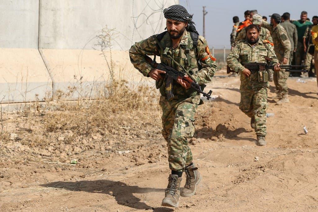 مقاتلون سوريون موالون لتركيا - فرانس برس