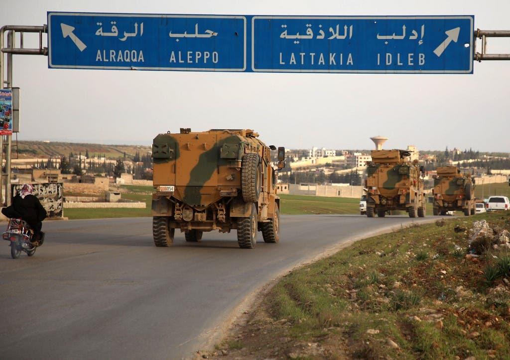 آليات تركية في إدلب - فرانس برس