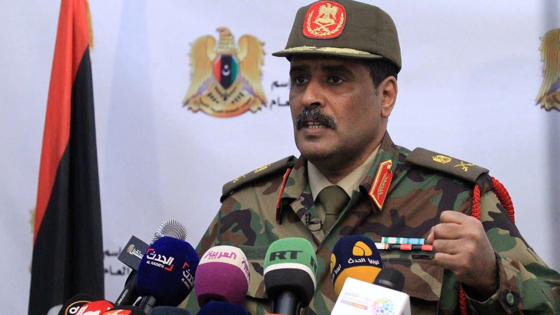المتحدث باسم الجيش الليبي أحمد المسماري(أ{شيفية- فرانس برس)