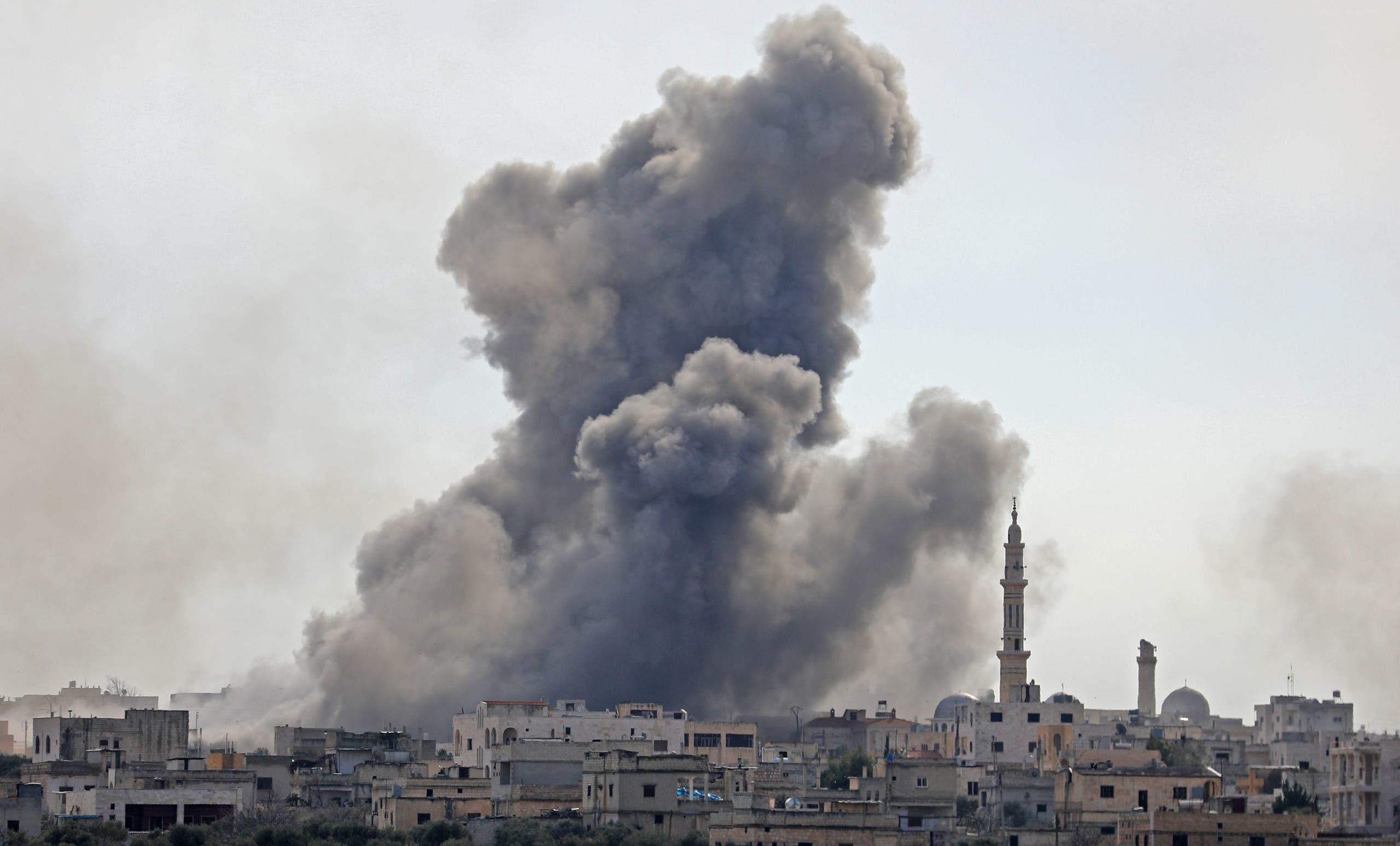 من إدلب يوم 3 فبراير (فرانس برس)