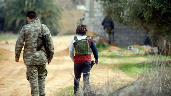 """انتهاك جديد.. درون تركية و""""دفاع جوي"""" في مطار معيتيقة"""