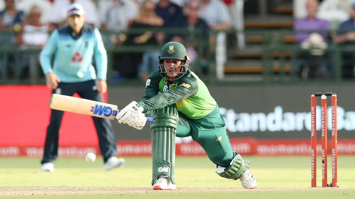 South Africa's Quinton de Kock in action in the first ODI against England at Newlands Cricket Ground, Cape Town, South Africa, on February 4, 2020. (Reuters)