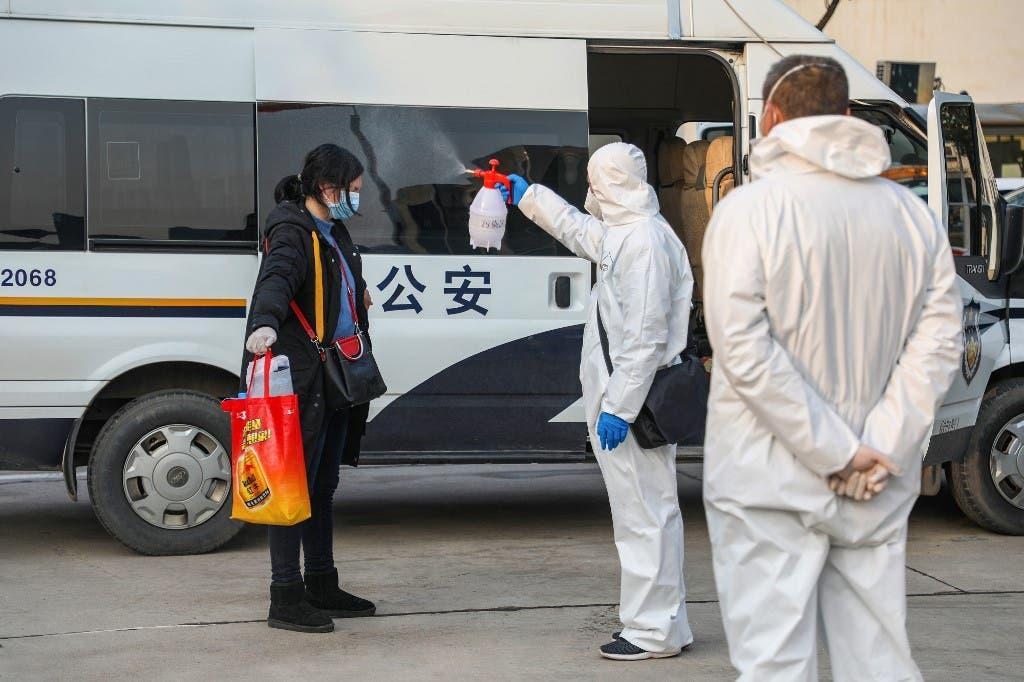 اجراءات وقائية في ووهان الصينية - 3 فبراير - فرانس برس