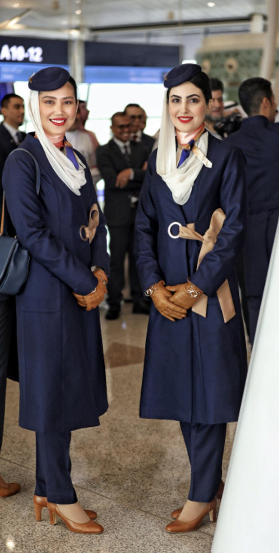Saudi Arabian Airlines cabin crew new uniform -2 (Supplied)