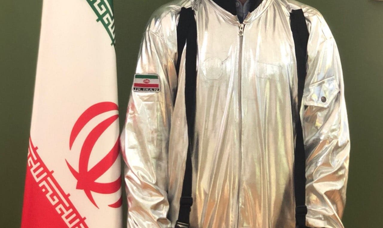 Iranian Space Suit from Twitter account of Iranian ICT Minister