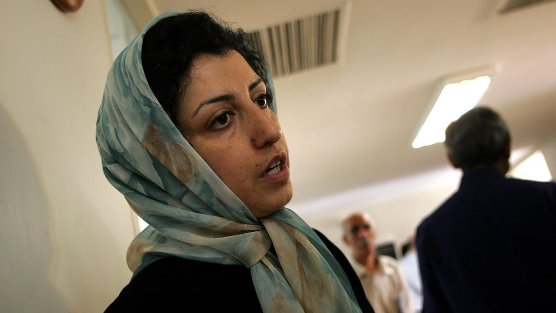 Iranian opposition human rights activist Narges Mohammadi in Tehran on June 25, 2007. (File photo: AP)