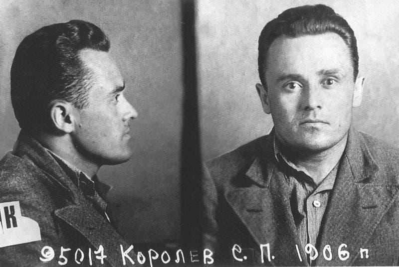 صورة لكوروليف عند اعتقاله عام 1938