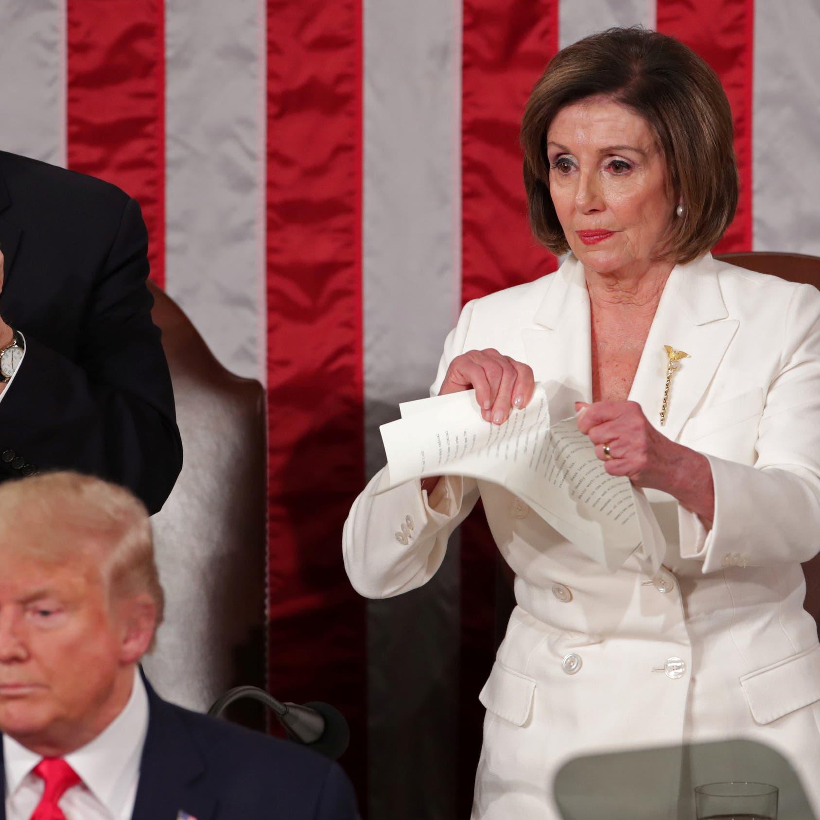 بيلوسي تمزق نسخة من خطاب ترمب.. والبيت الأبيض يرد