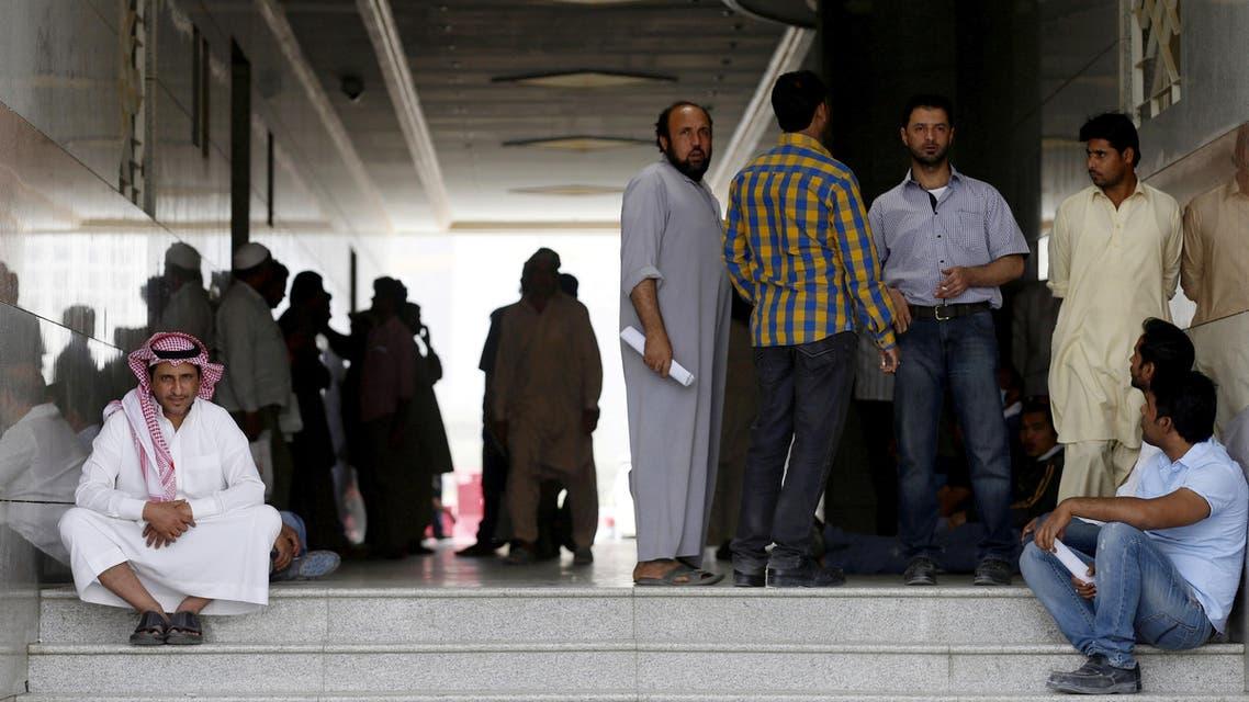 Migrant workers in Riyadh (Reuters)