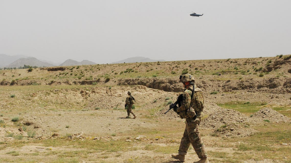 Soldiers from 4th Brigade Combat Team, 101st Airborne Division walk on a patrol on May 25, 2013 in Khost Province. (File photo: AP)