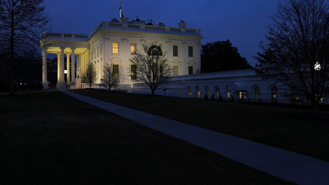 WASHINGTON, DC - FEBRUARY 5: The White House stands at dusk on Wednesday evening after President Donald Trump was acquitted on both articles of impeachment in the Senate trial on February 5, 2020 in Washington, DC. Drew Angerer/Getty Images/AFP