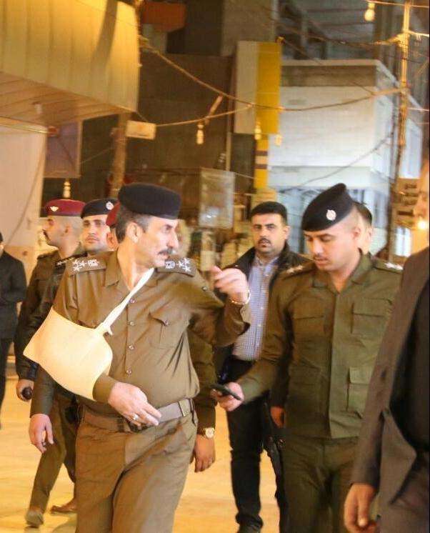 إصابة قائد شرطة النجف في الاشتباكات (نقلا عن السومرية)