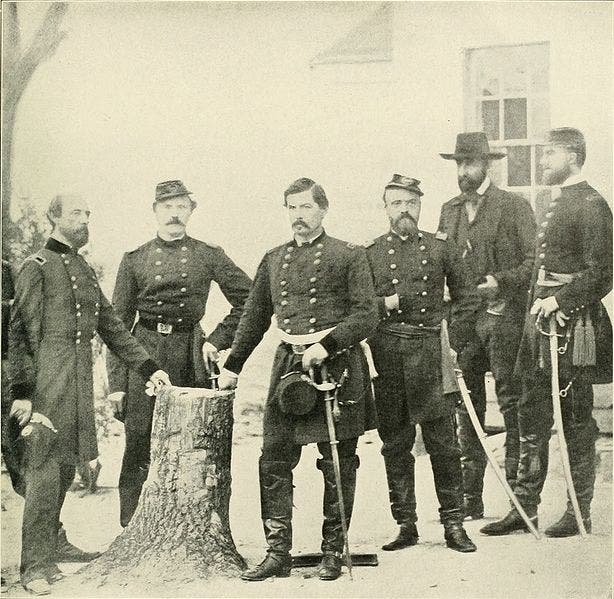 صورة لعدد من قادة قوات الاتحاد بالحرب الأهلية الأميركية