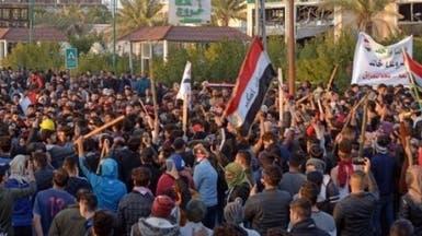 أنصار مقتدى الصدر يطلقون الرصاص على متظاهري كربلاء