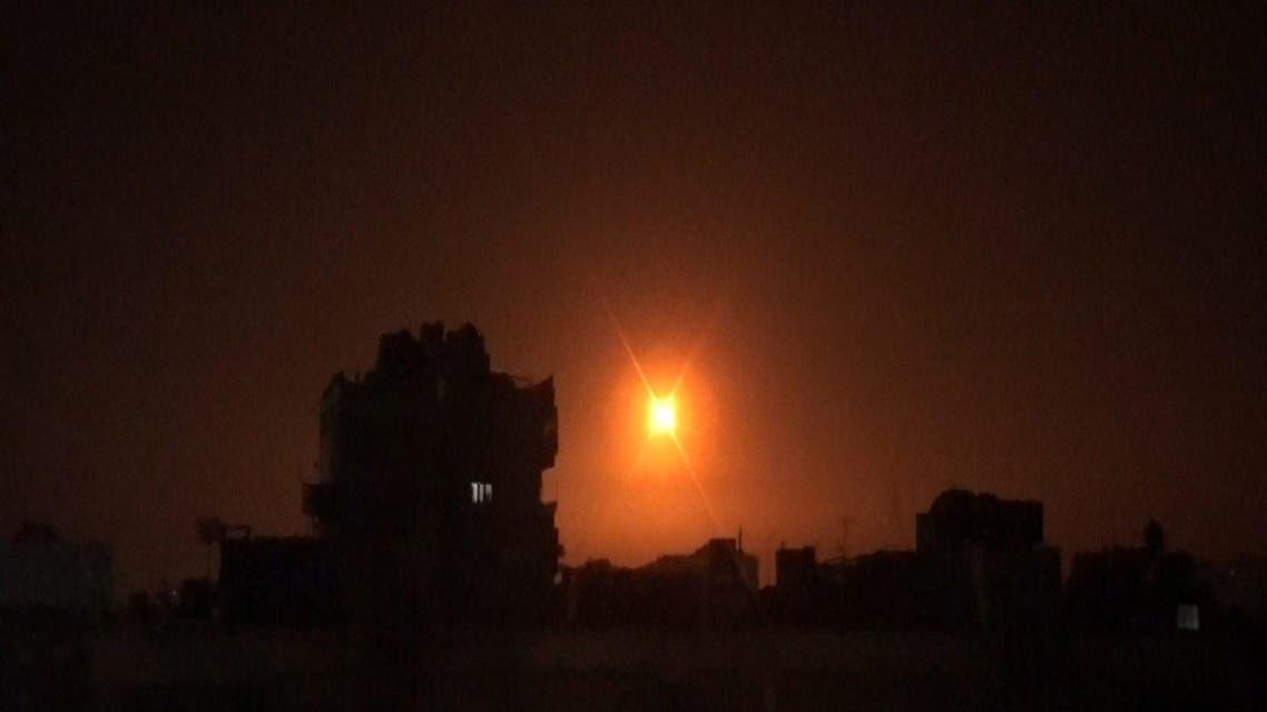 من القصف الإسرائيلي فوق ريف دمشق