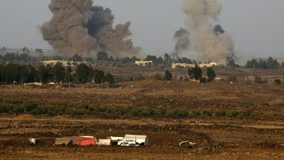 قصف-اسرائيلي-علي-درعا-مرتفعات-الجولان-768x405