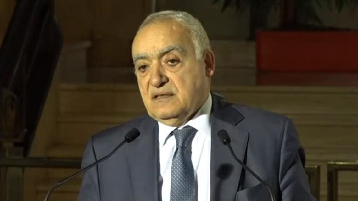 Ghassan Salame, UN special envoy for Libya and head of the UN Support Mission in Libya (UNSMIL) speaks during a press conference in Geneva, on February 6, 2020. (Screengrab)