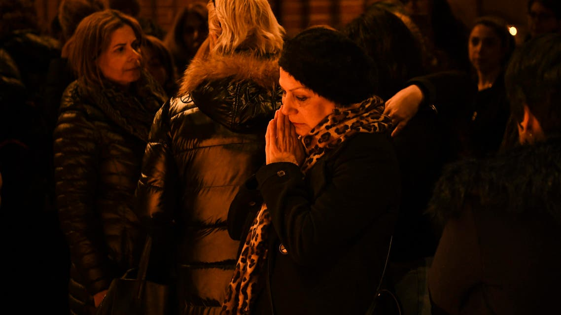 Mourners gather at a memorial service for the victims of Ukrainian Airlines flight PS752 attack in Iran at a church in Stockholm. (File photo: AFP)