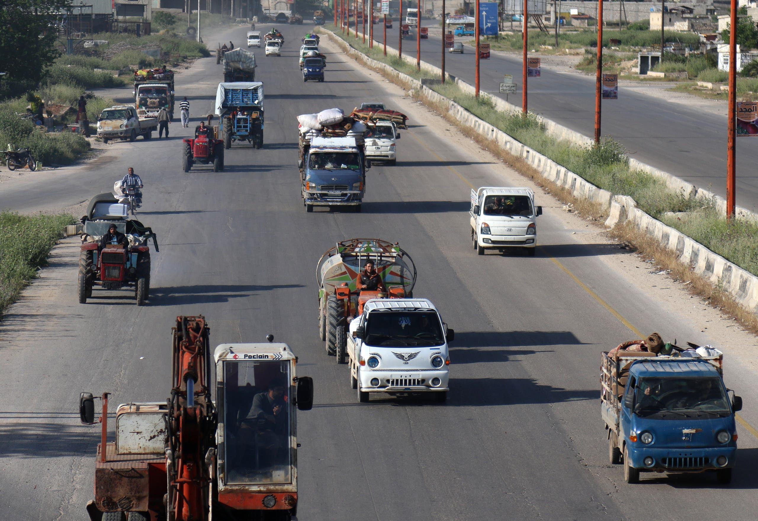 طريق حلب دمشق (أرشيفية- فرانس برس)