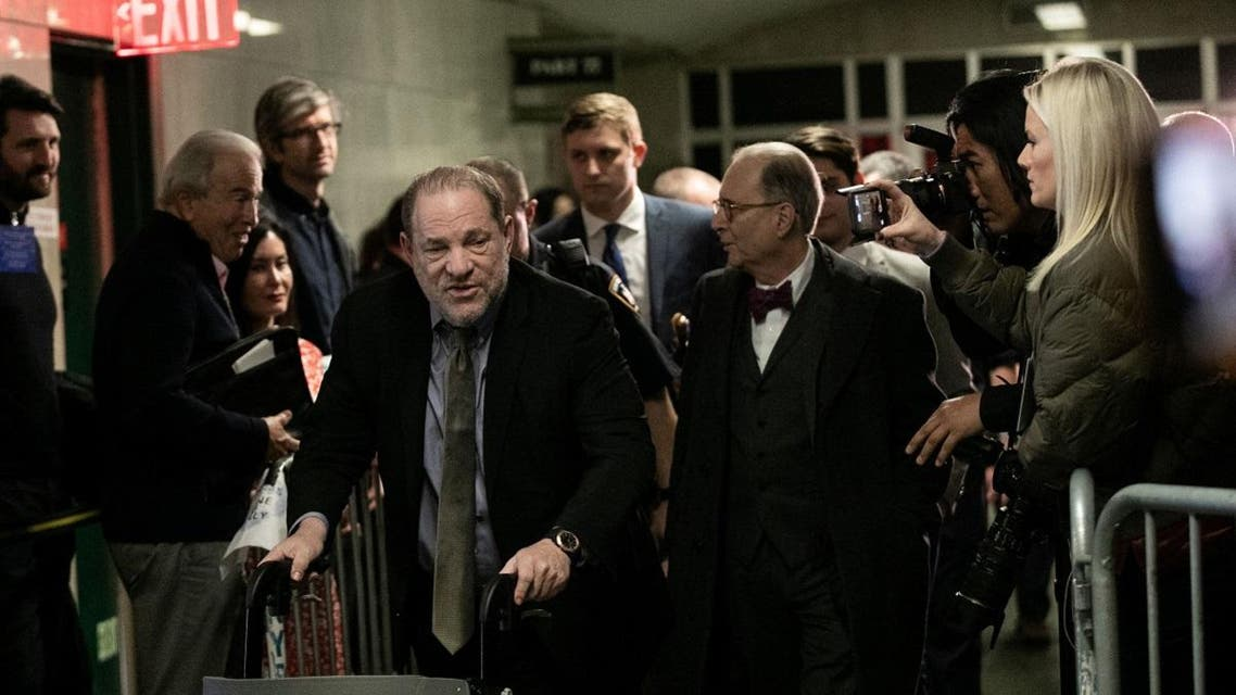 Film producer Harvey Weinstein leaves Criminal Court during his sexual assault trial in the Manhattan borough of New York City. (Reuters)
