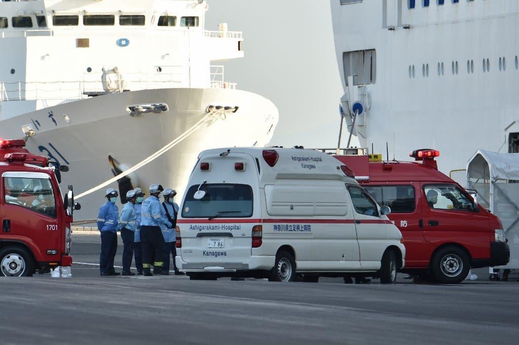 إصابات بكورونا على متن سفينة سياحية ترسو بميناء يوكوهاما في اليابان - فرانس برس