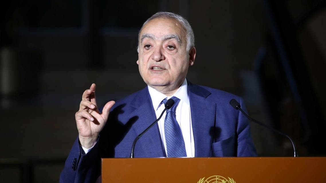 UN Envoy for Libya, Ghassan Salame holds a news briefing after a meeting of the 5+5 Libyan Joint Military Commission in Geneva, Switzerland. (File photo: Reuters)