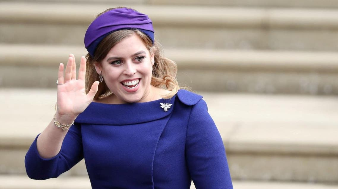 Princess Beatrice arrives for the wedding of Princess Eugenie to Jack Brooksbank at St George's Chapel in Windsor Castle. (File photo: Reuters)