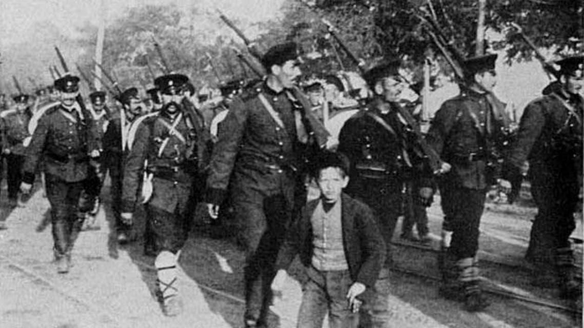 جانب من القوات البلغارية بالحرب العالمية الأولى