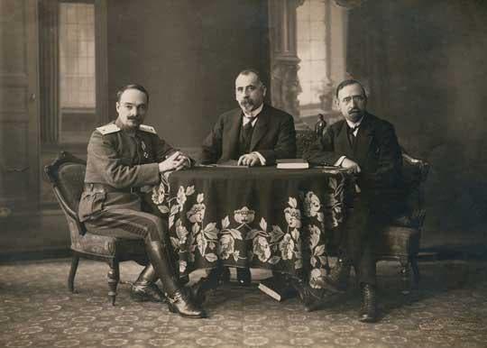 صورة للوفد البلغاري الذي وقّع على هدنة سالونيكا