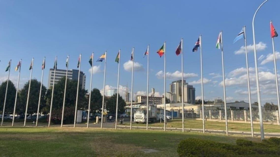 من خارج مقر انعقاد القمة الإفريقية بأديس أبابا